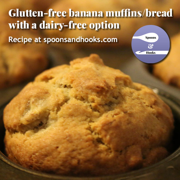 Recipe: Gluten-free banana muffins (or bread), with a dairy-free option