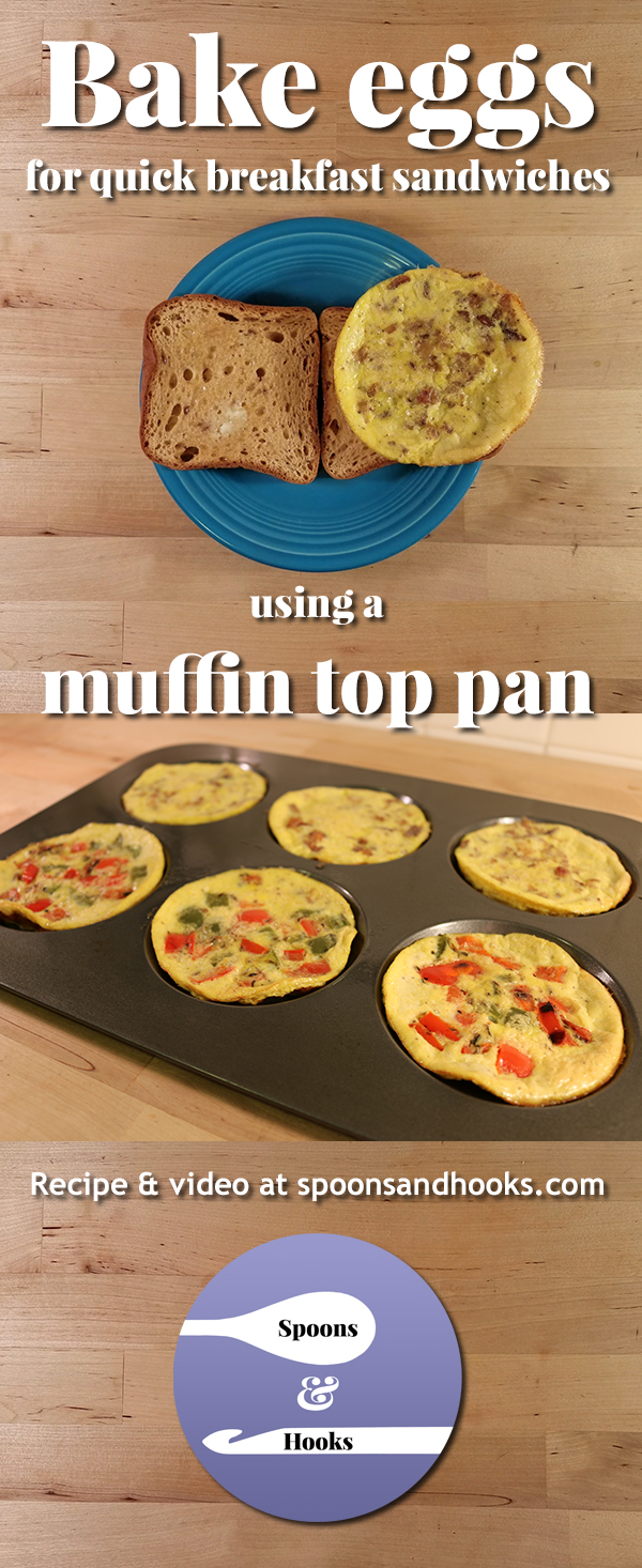 Bake eggs in a muffin top pan for sandwich-sized servings that are quick to prepare, freeze well and easy to make both dairy- and gluten-free