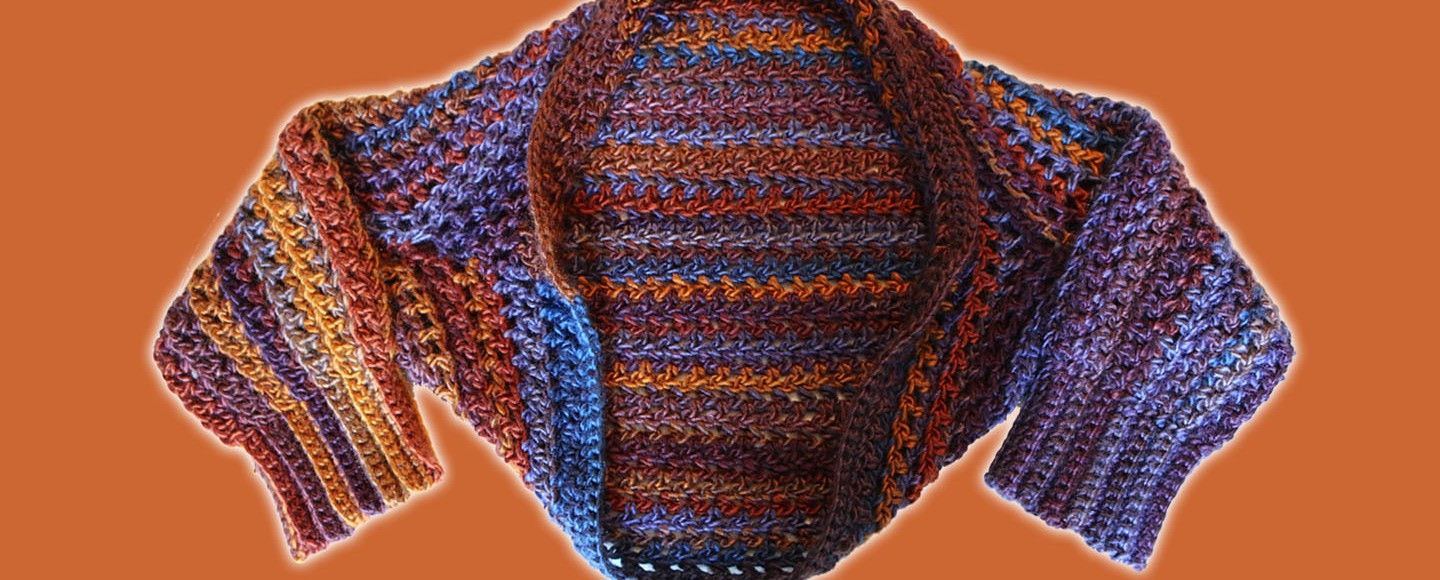 Free Crochet Pattern Quick Easy Shrug With Ribbed Cuffs Spoons