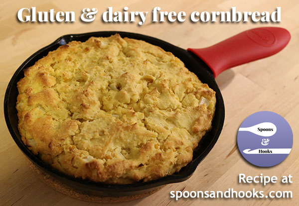 Made using gluten-free flour and cream style corn instead of milk, this cornbread is hearty, flavorful and a perfect complement to soups and slow-cooker meals.
