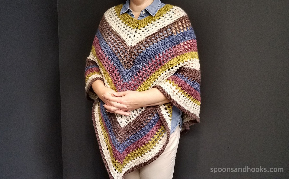 Free crochet pattern: The easiest poncho you\'ll ever make – Spoons ...