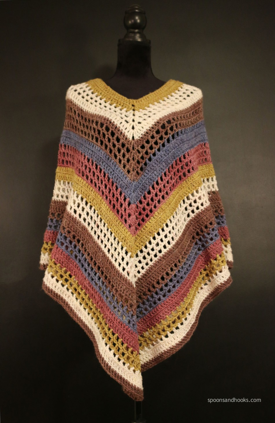 Free Crochet Pattern The Easiest Poncho Youll Ever Make Spoons