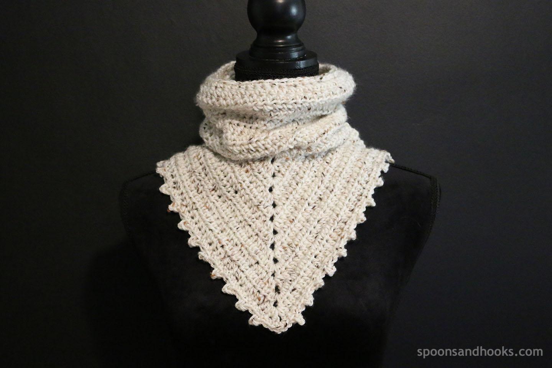 Free crochet pattern: Two-in-one bandana cowl