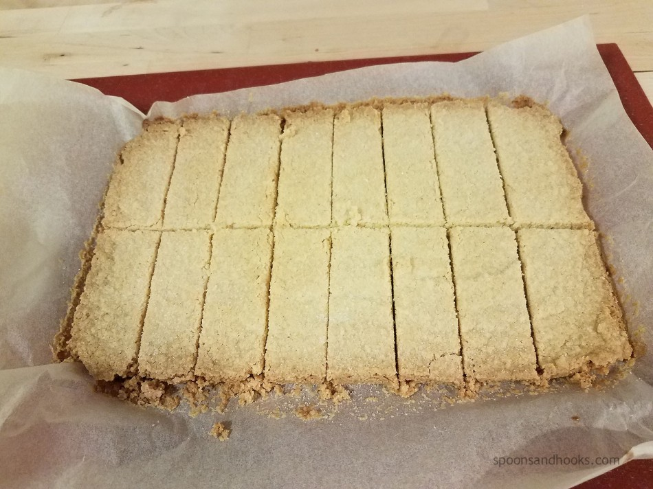 Recipe conversion: Sugared Shortbread made gluten-free