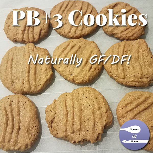 Four ingredients: peanut butter, sugar, eggs, vanilla. Four steps: mix, scoop, bake, enjoy!